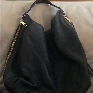 Rebecca Minkoff black hobo with Gold Hardware